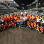 McLaren F1 celebrate third place in constructors' standings at Abu Dhabi GP