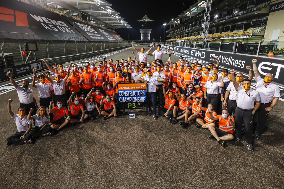 McLaren clinch third place in constructors' standings at Abu Dhabi GP