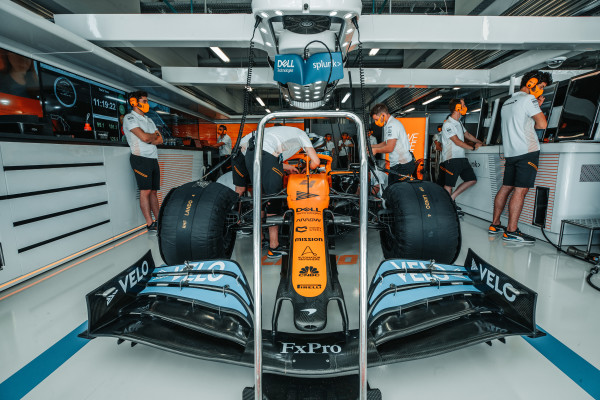McLaren MCL35M fires up for the first time under Mercedes power