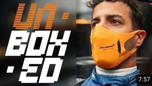 McLaren Unboxed – Daniel Ricciardo has his first seat fit in the MCL35M